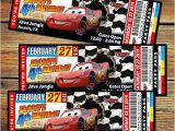 Disney Cars Personalized Birthday Invitations Cars 2 Ticket Invitation Template for Free