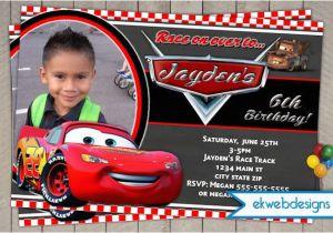 Disney Cars Personalized Birthday Invitations Invitation Lightening Mcqueen