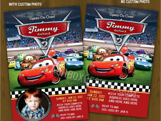 Download By SizeHandphone Tablet Desktop Original Size Back To Disney Cars Personalized Birthday Invitations