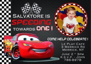 Disney Cars Personalized Birthday Invitations Party Cimvitation