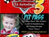 Disney Cars Personalized Birthday Invitations Disney Cars Custom Photo Birthday Invitation by
