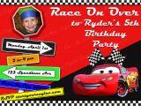 Disney Cars Personalized Birthday Invitations Pixar Cars Printable Birthday Invitation Personalized Cars