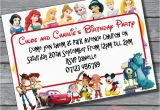 Disney Character Birthday Invitations 12x Boys Girls Disney Character Joint Single Birthday