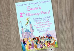 Disney Character Birthday Invitations Disney Birthday Invitation Disney Girl Invitation by