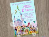 Disney Character Birthday Invitations Disney Castle Invitation Disney Characters Invitation