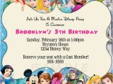 Disney Character Birthday Invitations Disney Characters Birthday Party Custom by