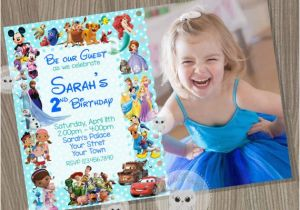 Disney Character Birthday Invitations Disney Invitation Boy or Girl Invitationdisney Characters