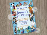 Disney Character Birthday Invitations Disney Invitation Disney Boy Invitation Disney