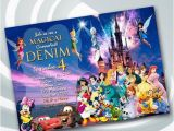 Disney Character Birthday Invitations On Sale 25 Disney Castle Invitation Disney Birthday