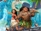 Disney Moana Birthday Card Disney Moana Party Invitation Ocean Maui Birthday Invite