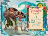 Disney Moana Birthday Card Moana Birthday Invitation Princess Moana Birthday Disney