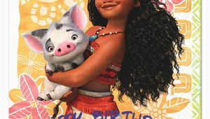 Disney Moana Birthday Card Moana Happy Birthday Cards