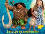Disney Moana Birthday Card Moana Invitation Disney Moana Birthday Party Invitation