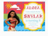 Disney Moana Birthday Card Moana Invitation Moana Party Invitation Moana Birthday