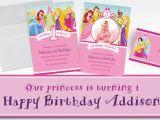 Disney Princess 1st Birthday Invitations Custom Disney Princess 1st Birthday Invitations Thank