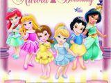 Disney Princess 1st Birthday Invitations Digital Disney toddler Princess Invitation Princess
