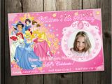 Disney Princess 1st Birthday Invitations Disney Princess Birthday Party Invitation Custom Invites