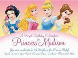 Disney Princess 1st Birthday Invitations Disney Princess Party Invites A Birthday Cake