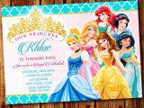 Disney Princess 1st Birthday Invitations Princess Party Princess Invitation Disney Princess Party