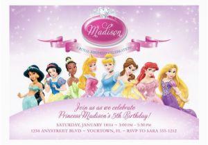 Disney Princess Birthday Party Invitations Free Printables Invitation Samples Templates