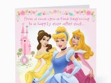 Disney Princess Happy Birthday Card Disney Princess Birthday Quotes Quotesgram