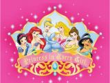 Disney Princess Happy Birthday Card Personalised Disney Princess Birthday Card Design 2