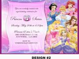 Disney Princesses Birthday Invitations Disney Princess Birthday Invitation Rapunzel Tangled Belle