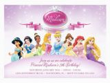Disney Princesses Birthday Invitations Disney Princess Birthday Invitation Samples Templates