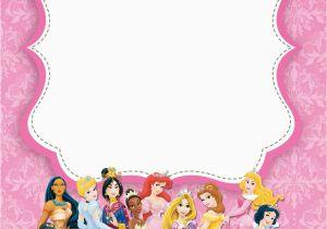 97 Disney Princess Birthday Invitations Free Templates
