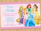 Disney Princesses Birthday Invitations Princess Invitation Disney Princess Invitation Birthday