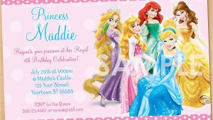 Disney Princesses Birthday Invitations Princess Invitation Disney Princess Invitation Birthday