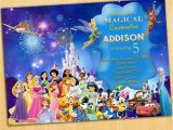 Disney themed Birthday Cards Birthday Invitation Templates Disney Birthday Invitations