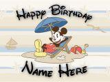 Disney themed Birthday Cards Free Custom Disney Birthday Card Mickey Mouse Beach