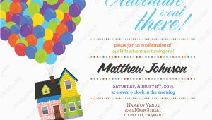 Disney Up Birthday Invitations Disney Pixar Up Personalized Birthday Invitation Digital