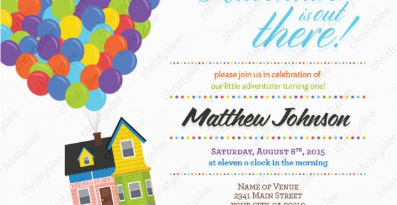 Disney Up Birthday Invitations Disney Pixar Up Personalized Birthday Invitation Digital