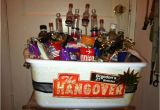 Diy 21st Birthday Gifts for Him Epic Diy 21st Birthday Hangover themed Gift Basket Gift