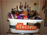 Diy 21st Birthday Gifts for Him Epic Diy 21st Birthday Hangover themed Gift Basket Gift