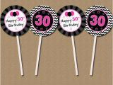 Diy 30th Birthday Decorations 30th Birthday Cupcake toppers Diy Printable 30th Bday Party
