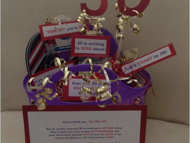 Diy 30th Birthday Decorations Gift Basket Easy And