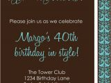 Diy 40th Birthday Invitations Diy Printable Invitation Birthday Party Birthday