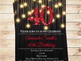 Diy 40th Birthday Invitations Editable 40th Elegant Birthday Party Invitations Pdf 40th