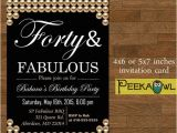 Diy 40th Birthday Invitations Printable Pearl 40th Birthday Invitation Card forty and