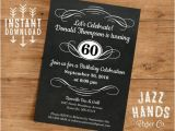 Diy 40th Birthday Invitations Vintage Adult Birthday Invitation Template Diy Printable