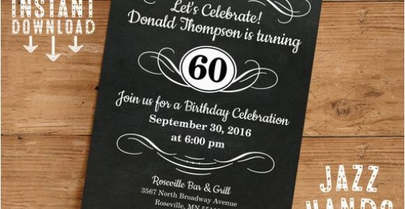 Diy 40th Birthday Invitations Vintage Adult Birthday Invitation Template Diy Printable