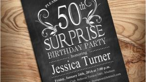 Diy 50th Birthday Invitations 50th Surprise Birthday Invitation Diy by Partyinkstudio