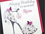 Diy Birthday Cards for Sister Personalised Handmade Birthday Card 18th 21st 30 40
