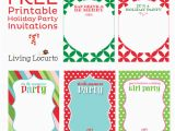 Diy Birthday Invitations Online Free 5 Free Printable Holiday Party Invitations