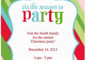 Diy Birthday Invitations Online Free 5 Printable Holiday Party