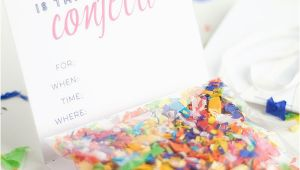 Diy Birthday Invitations Online Free Diy Confetti Invitation with Free Printable