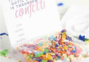 Diy Birthday Invitations Online Free Confetti Invitation With Printable